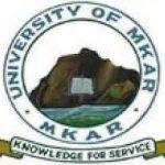 University of Mkar Admission List