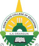 College of Education Ila-Orangun Admission List
